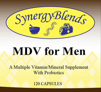 MDV for Men, multiple vitamin mineral supplement with Probiotics